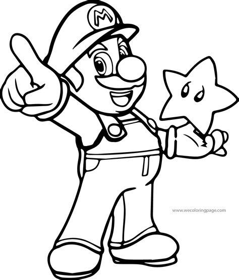 Super Mario Coloring Page Wecoloringpagecom