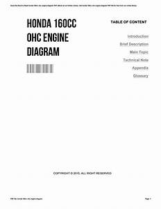 Honda 160cc Ohc Engine Diagram By Deborastone2494