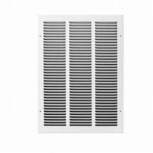 TruAire 12 in x 14 in White Return Air Grille H170 12X14