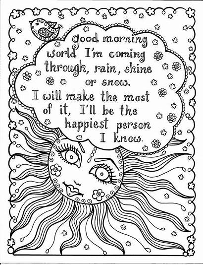 Coloring Pages Adult Adults Quote Sheets Brave