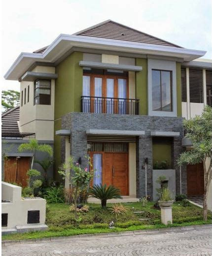 model desain rumah mewah minimalis  lantai tampak depan