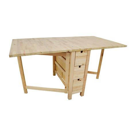 ikea drop leaf desk 49 off ikea ikea birch norden gateleg drop leaf table with drawers tables