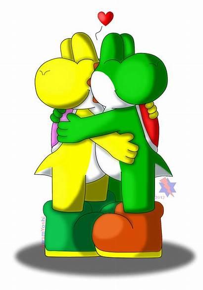 Hug Deviantart Yoshi Mario Dragon Toad Island