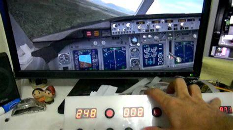 fsx autopilot panel  boeing   flight youtube