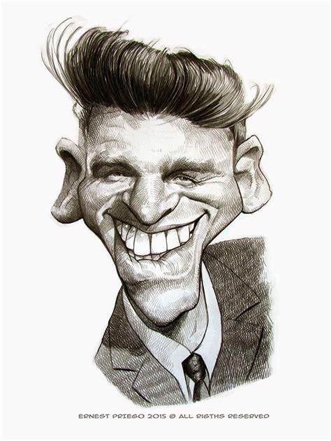 burt lancaster  ernesto preso caricatures celebrity
