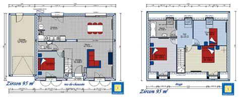 plan maison a etage 3 chambres exceptionnel plan de maison 4 chambres avec etage 3