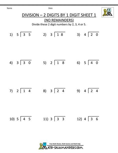grade 3 math division with remainders division worksheets 3rd grade