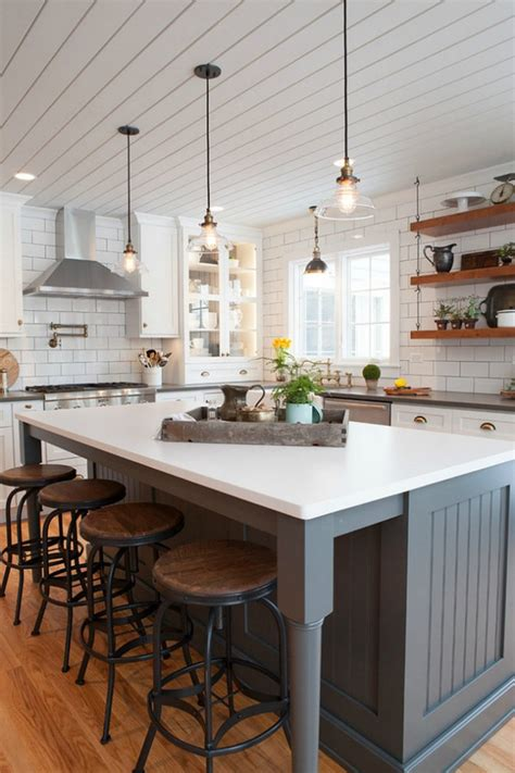 kitchen island big these 20 modern farmhouse kitchens for gorgeous fixer style