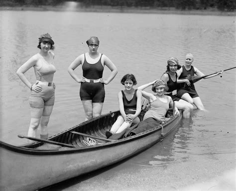 Canoe Boat Pose by Paddle And Other Canoe Stuff Vintage Paddle Pic