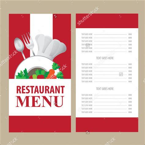 menu card template 45 menu card templates free sle exle format free premium templates