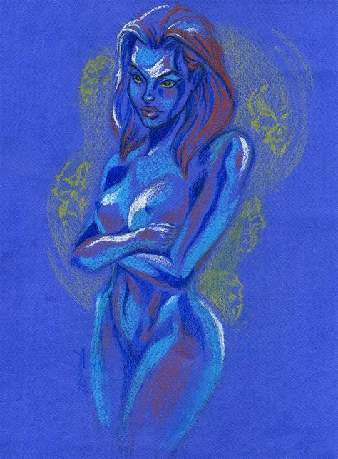 Rule 34 1girls Blue Skin Breasts Erizabetitsme Female