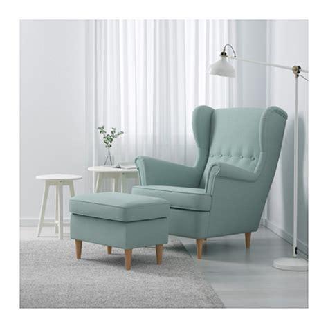strandmon wing chair skiftebo light turquoise ikea