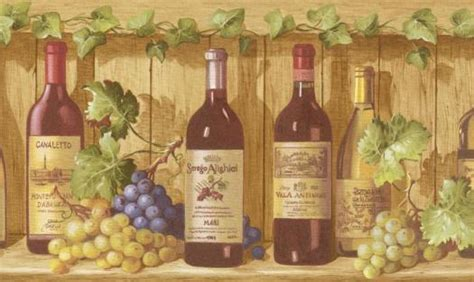 wine bottle wallpaper border gallery