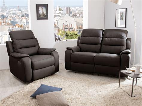 canape et fauteuil relax ensemble canap 233 2 relax manuel 2 places fauteuil relax