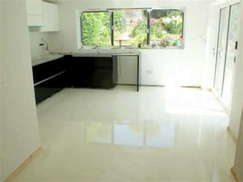 Sion Surfaces Resin Flooring 'white pearl'   YouTube