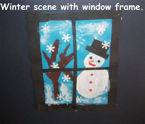 winter scene display classroom display class display