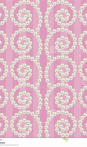 Luxury Seamless Pattern With Pearls Wavy Borders Stock ...