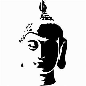 Hot Buddha Head Silhouette Wall Art Stickers Decal Home