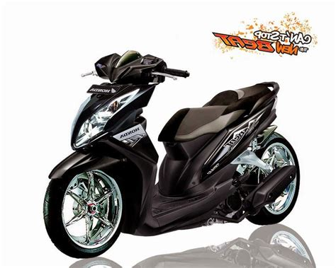 Modifikasi Motor Beat Fi Hitam by Honda Beat Fi Modifikasi Standar Warna Hitam