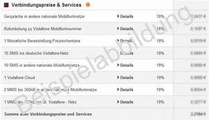 Rechnung Vodafone : verbindungspreise und services auf der mobilfunk rechnung ~ Themetempest.com Abrechnung