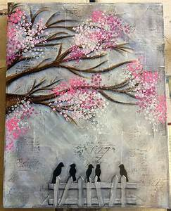 Mixed media canvas in a class with Michelle Webb @ Art ...