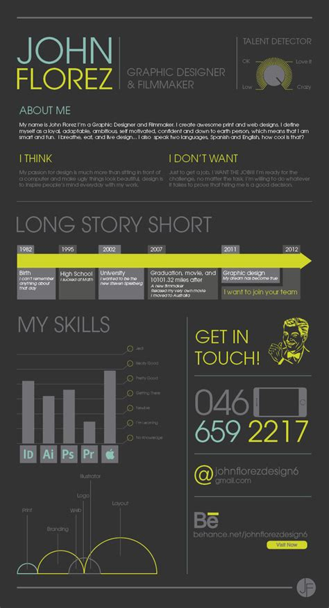 Graphic Design Resumes 2012 by Exles Of Creative Graphic Design Resumes Infographics 2012