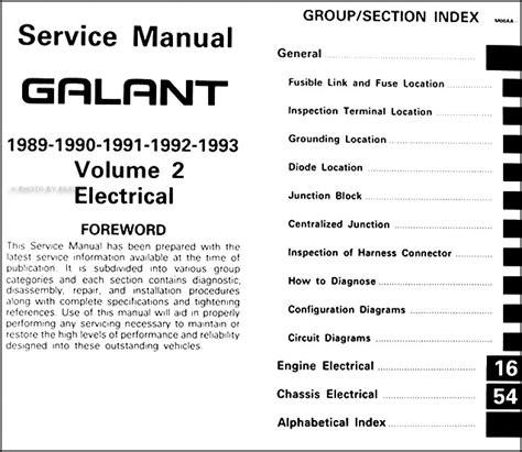 free auto repair manuals 1988 mitsubishi galant free book repair manuals 1989 1993 mitsubishi galant repair shop manual set original
