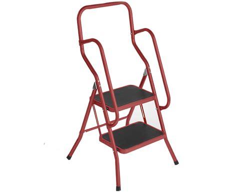 2 Step Safety Ladder Buttermilk Foldable Non Slip Tread