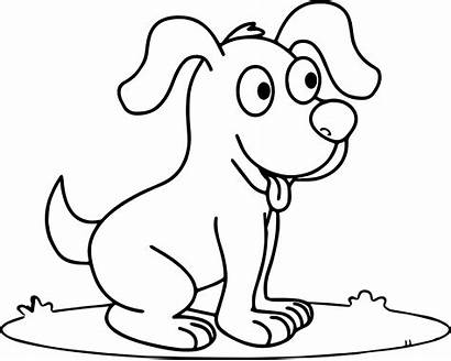 Coloring Dog Cartoon Pages Newfoundland Dogs Puppy