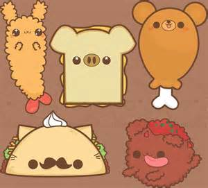 Cute Kawaii Food Drawings