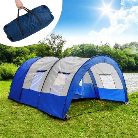 tente tunnel 3 chambres camping tunnel family tent outdoor tents 4 6