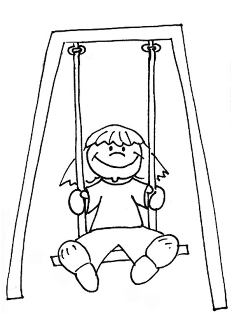 swing clipart black and white verbs flashcards by proprofs