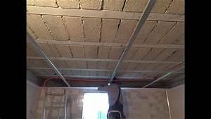 Faux Plafond Pvc : pose faux plafond en pvc youtube ~ Melissatoandfro.com Idées de Décoration