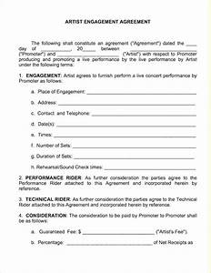 Cancel Contract Letter Templates Artist Performance Contract Business Form Letter Template