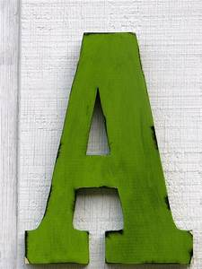 large wall letters 2 foot rustic wooden letter a With large wooden letter a