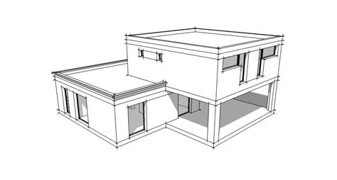 comment dessiner une chambre en perspective plan maison toit plat 4 5 pièces villad 39 architecte 140