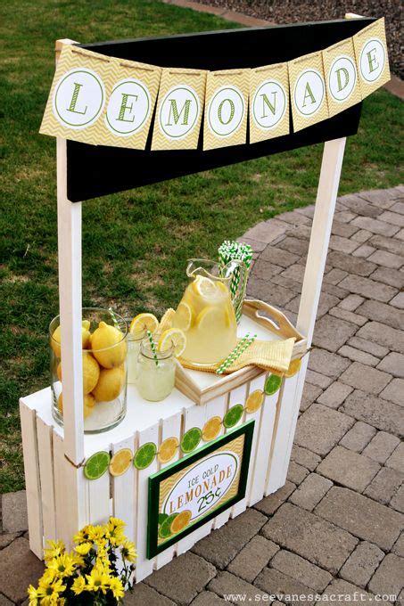 diy tutorial crate lemonade stand  kids