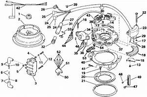 Evinrude Ignition Parts For 1992 8hp E8renm Outboard Motor