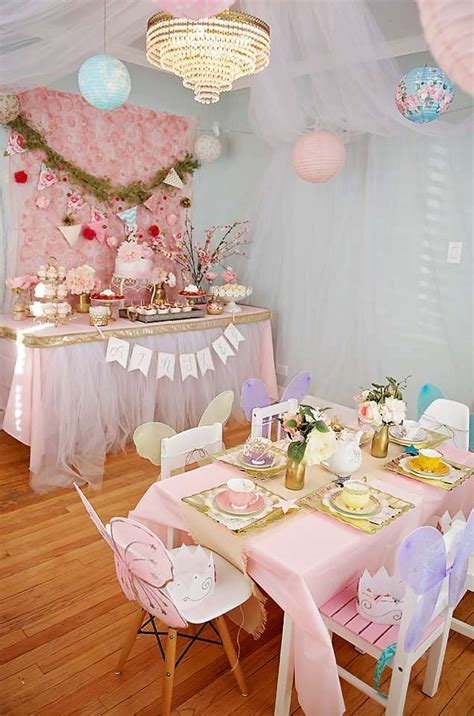 garden tea party birthday party ideas photo