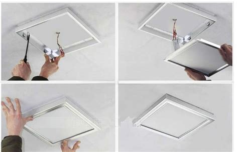 installing led lights in ceiling led panel light installation instructions led knowledge