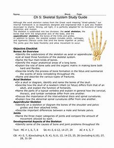 Ch 5  Skeletal System Study Guide
