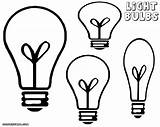 Bulb Coloring Clipart Bulbs Lightbulb Different Shapes Drawings sketch template