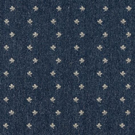 Country Upholstery Fabric by Navy Blue And Beige Mini Flowers Country Upholstery