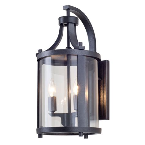 niagara outdoor hammered black two light outdoor sconce