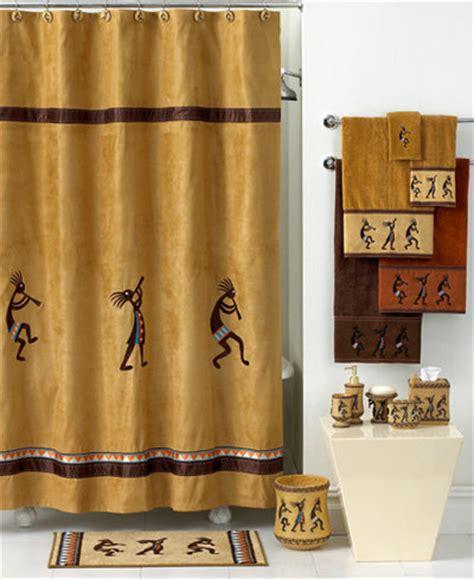 Kokopelli Shower Curtain - avanti bath accessories kokopelli shower curtain