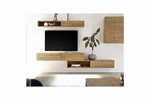 Meuble Sous Tv Suspendu : meuble tv suspendu en bois massif filigrame hellin ~ Teatrodelosmanantiales.com Idées de Décoration