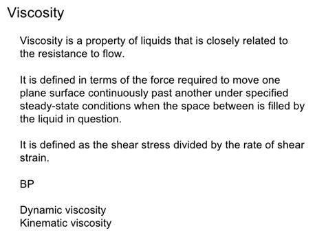 viscosity   determination