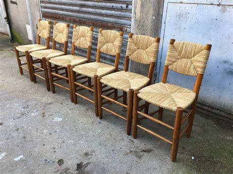 chaises paillées perriand chaises paillées paul bert serpette