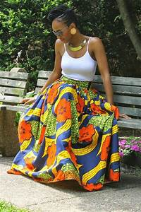 Floral Maxi Skirt Chinelo ~Latest African Fashion, African ...
