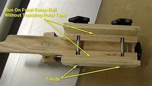Micro-Adjust Table Saw Fence Adjuster
